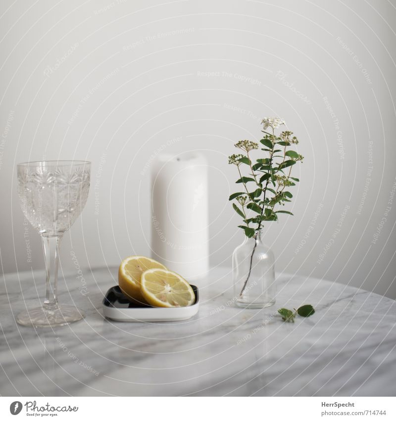 At the marble table V Beverage Cold drink Drinking water Bottle Glass Living or residing Flat (apartment) Table Stone Fresh Healthy Juicy Clean White