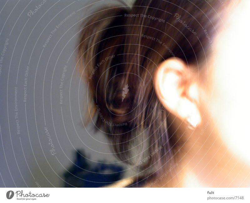 hair Brown Woman Hair and hairstyles Ear Skin Blur