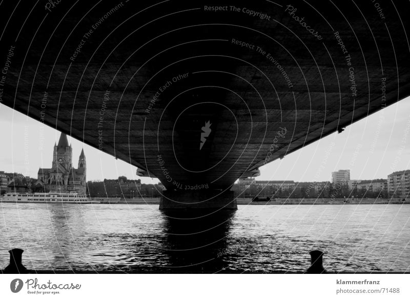 Water Dark Religion and faith Bridge Electricity River Column Danube Bridge pier