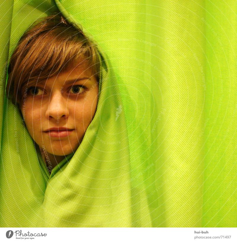 Where did I end up now? Green Drape Horror Square Irony Fate Understanding Empty Distress Maze Head Looking Wrinkles Human being Comprehend no where Irritation