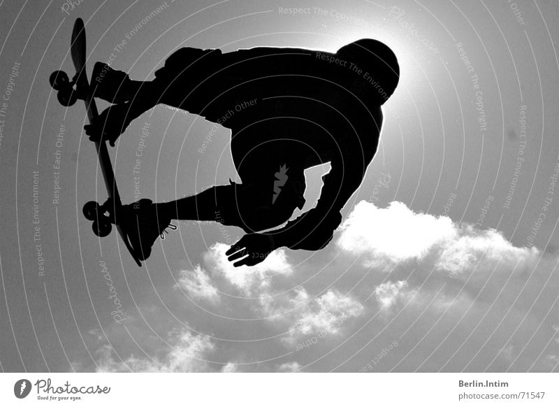 Sky White Clouds Black Jump Style Skateboarding 2006