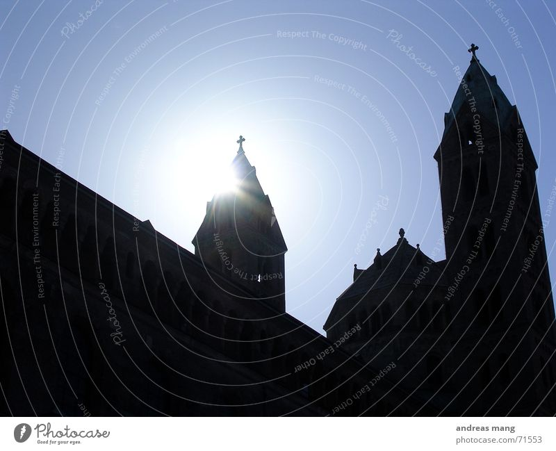 Sun Blue Building Religion and faith Lighting Tower Belief Dome Speyer