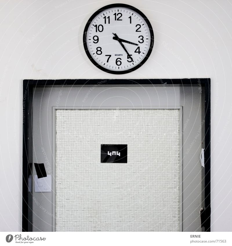 Black Glass Door Signs and labeling Clock Atelier Adhesive Clock hand