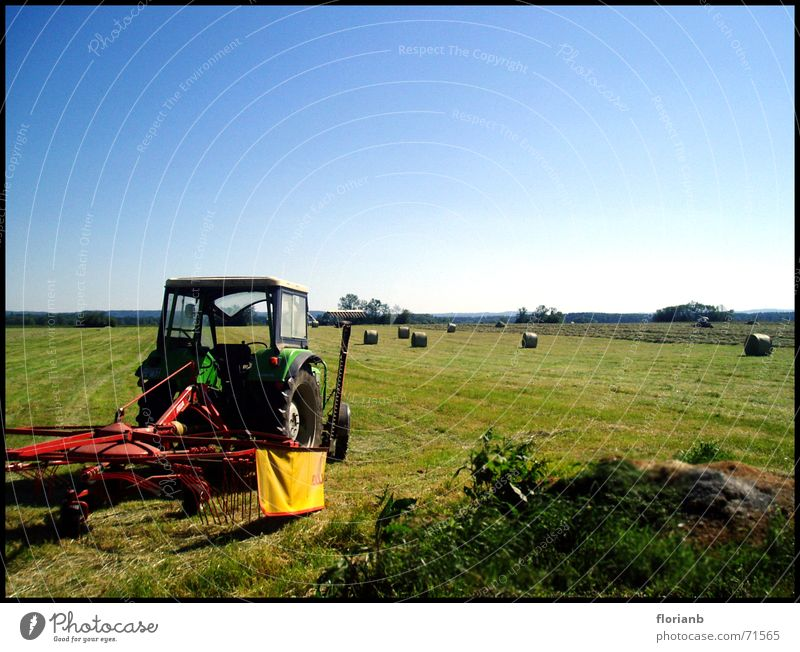 Beautiful Sky Sun Summer Work and employment Field Weather Beautiful weather Tractor