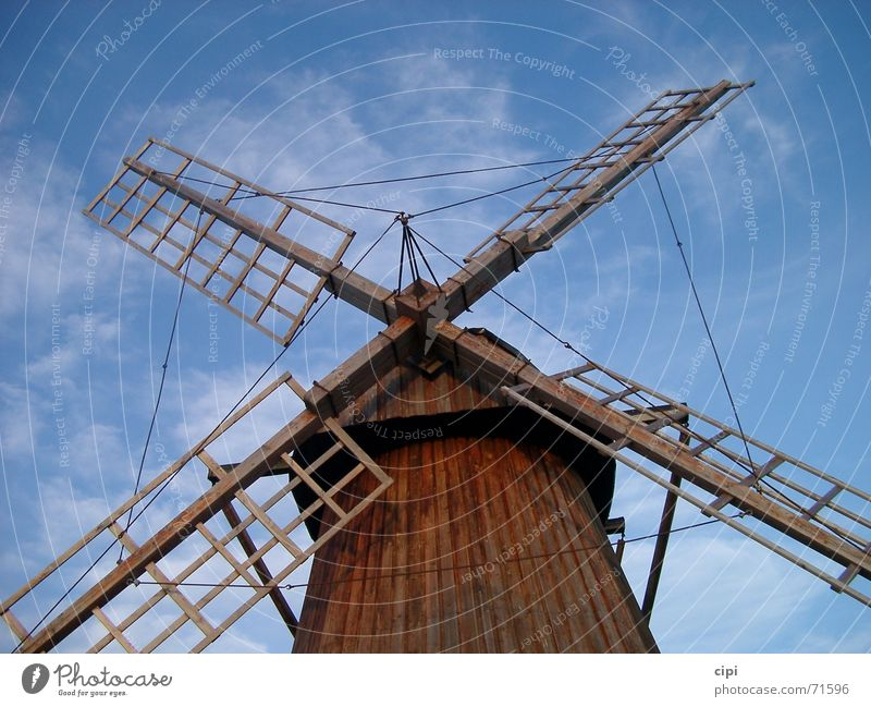 Sky Clouds Wait Sweden Netherlands Stagnating Mill Windmill