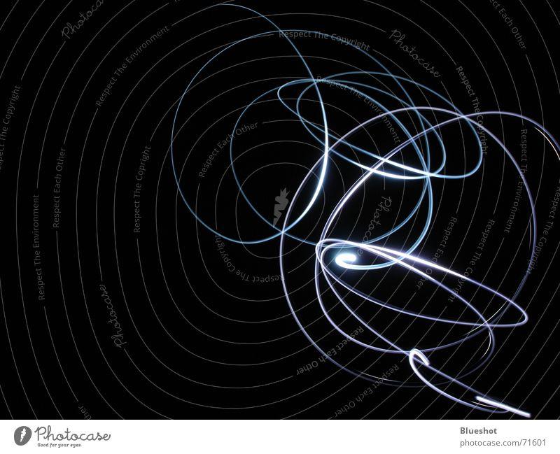 light traces Night Long exposure Tails Flashlight Night shot Black Dark Circle Abstract Line