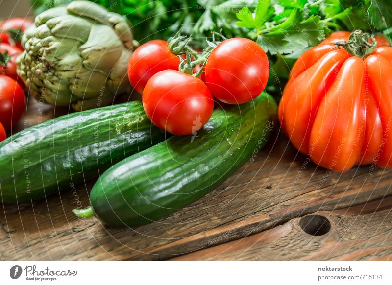 Fresh vegetables from the market Food Vegetable Lettuce Salad Nutrition Organic produce Vegetarian diet Diet Lifestyle Healthy wood Background picture tomato