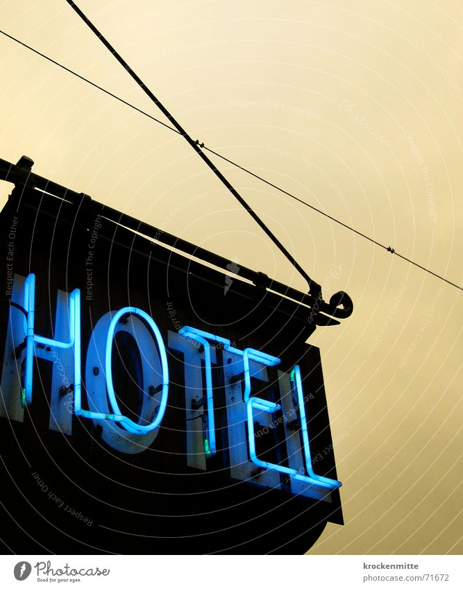 *** Hotel Neon sign Neon light Vacation & Travel Accommodation Lettering Lamp Evening