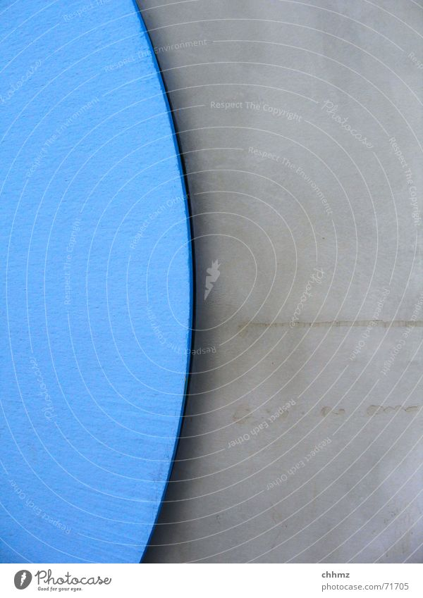 Blue Gray Concrete Part Seam Nut Cement Mainz