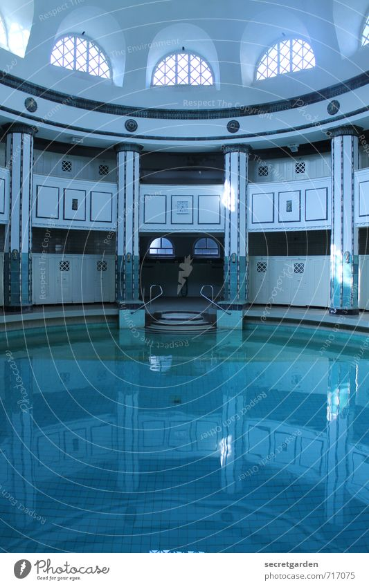 HALLE/S TOUR, blue out. Fitness Wellness Relaxation Calm Cure Spa Halle (Saale) Swimming pool Manmade structures Building Architecture Tourist Attraction Water