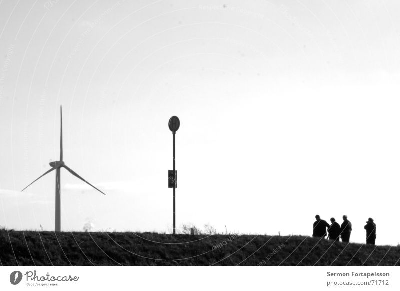 Human being Sky Summer Loneliness Clouds Landscape Street Meadow Style Sadness Power Wind Field Wait Energy industry Multiple