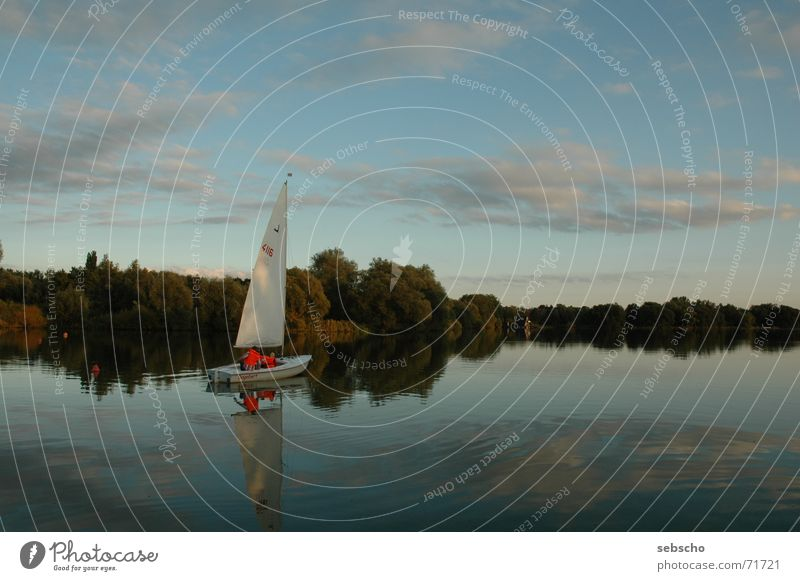 Sky Calm Clouds Relaxation Lake Watercraft Moody Wind Sailing Sailboat