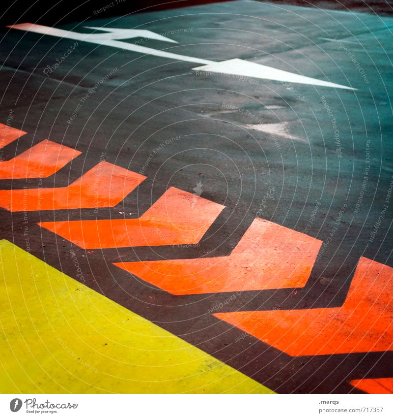Colour Dark Yellow Street Lanes & trails Gray Exceptional Orange Signs and labeling Transport Stripe Logistics Driving Arrow Direction Traffic infrastructure