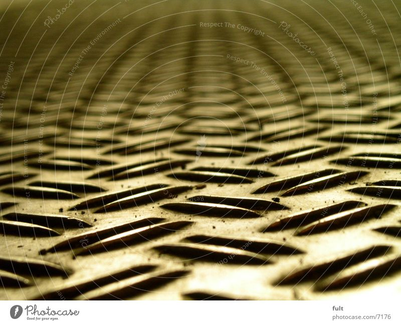 sheet metal Tin Floor covering Structures and shapes Under Steel Pattern Design Macro (Extreme close-up) Close-up checker plate non-slip Bleak