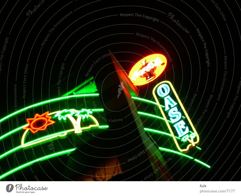 Technology Advertising Neon sign Night shot Symbols and metaphors Electrical equipment Fluorescent Lights