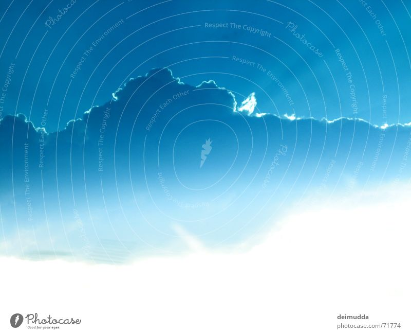 Beautiful Sky Blue Clouds Warmth Weather Physics God Deities Minimalistic