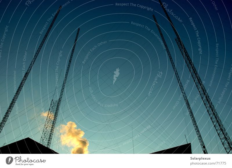 In the east of the city Construction Castle in the air High-rise Tower Steel tower Steel construction Steel cable Skyward Upward Vertical Interlaced Reticular