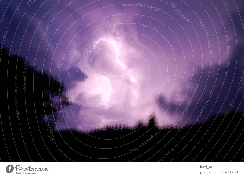 Blizzard {The sky burns} Storm Lightning Thunder Clouds Night Aurora Borealis Thunder and lightning resentment Sky Weather