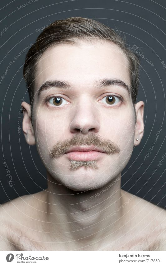 change #3 Masculine Young man Youth (Young adults) Head 1 Human being 18 - 30 years Adults Part Facial hair Moustache Beard Change Colour photo Studio shot