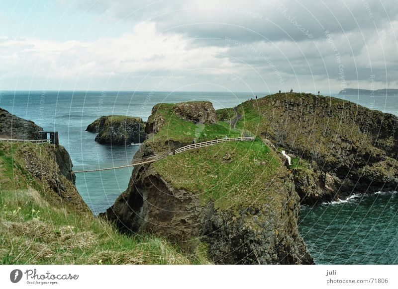 Suspension Bridge Ireland Coast Ocean Cliff carrig-a-rede rope bridge North