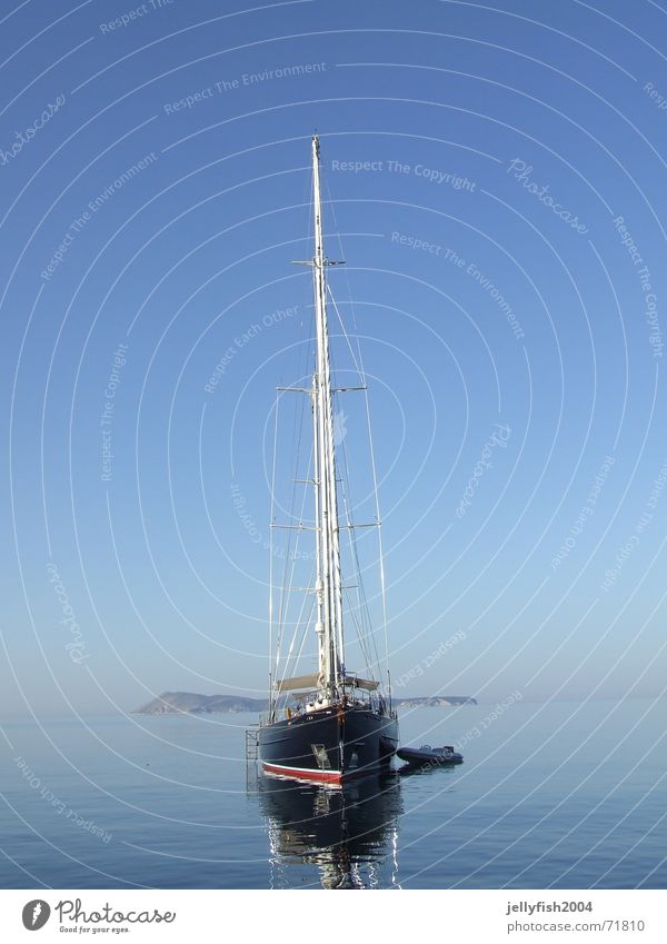 Ship in the morning Sport boats Sailing Ocean Moody Croatia Watercraft Yacht Island Morning vis Sky