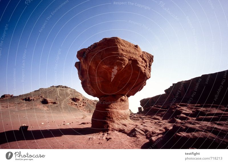 The Bomb Environment Nature Landscape Elements Earth Sand Air Sky Sun Desert Warmth Blue Red Animosity red earth Extreme Dry Colour photo Exterior shot Deserted