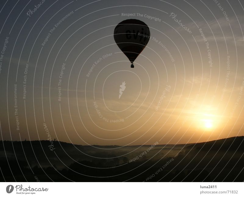 Sky Sun Landscape Fog Stairs Driving Floor covering Hot Air Balloon Fog bank Balloon flight Ground fog