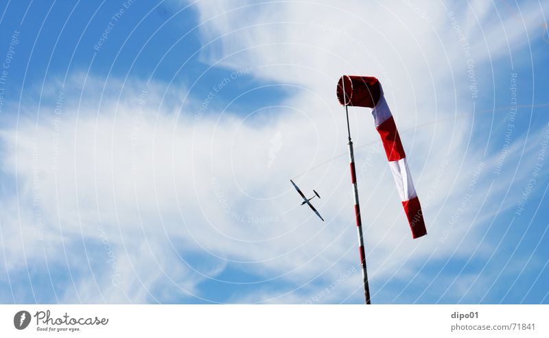 Sky Clouds Wind Flying Flying sports Gliding Aerobatics Sailplane Windsock