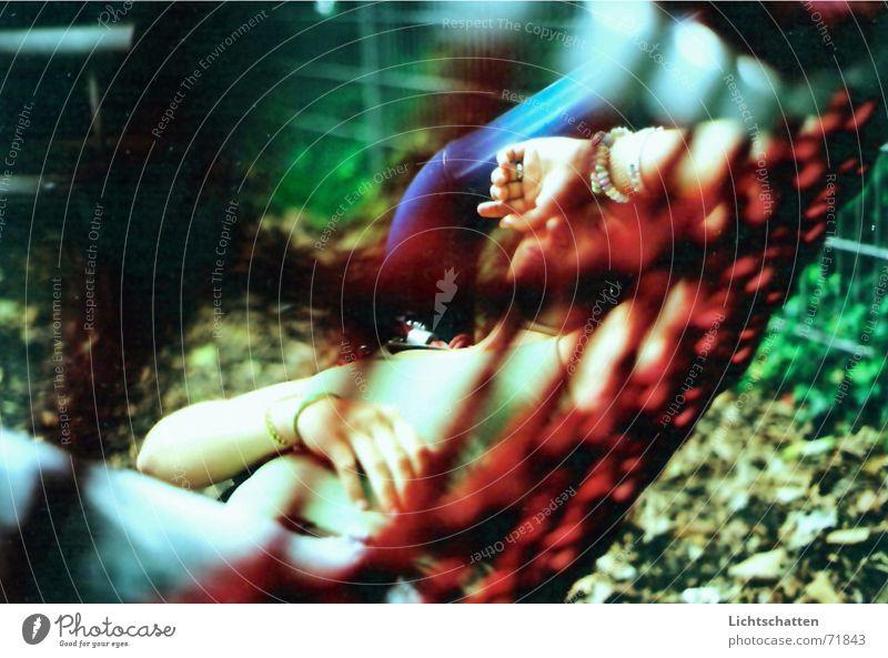 Woman Summer Relaxation Warmth Sleep Break Lie Physics Siesta Hammock