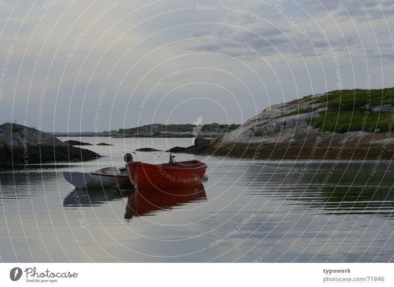 Water Sky Ocean Calm Clouds Meadow Lake Watercraft Wind Rock Canada Fishing (Angle) Dusk Nova Scotia