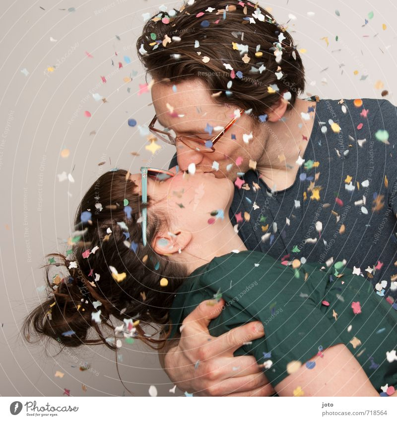 Human being Joy Love Happy Feasts & Celebrations Couple Party Together Wild Contentment Free Happiness Joie de vivre (Vitality) Romance Wedding New Year's Eve