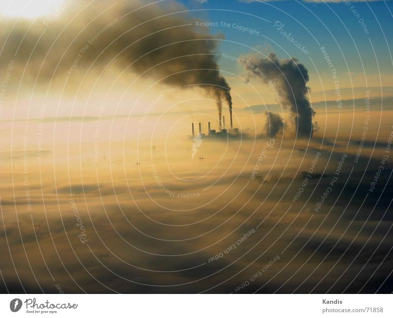 Clouds Dirty Fog Smoke Energy Chimney Environmental pollution Electricity generating station Air pollution Coal power station