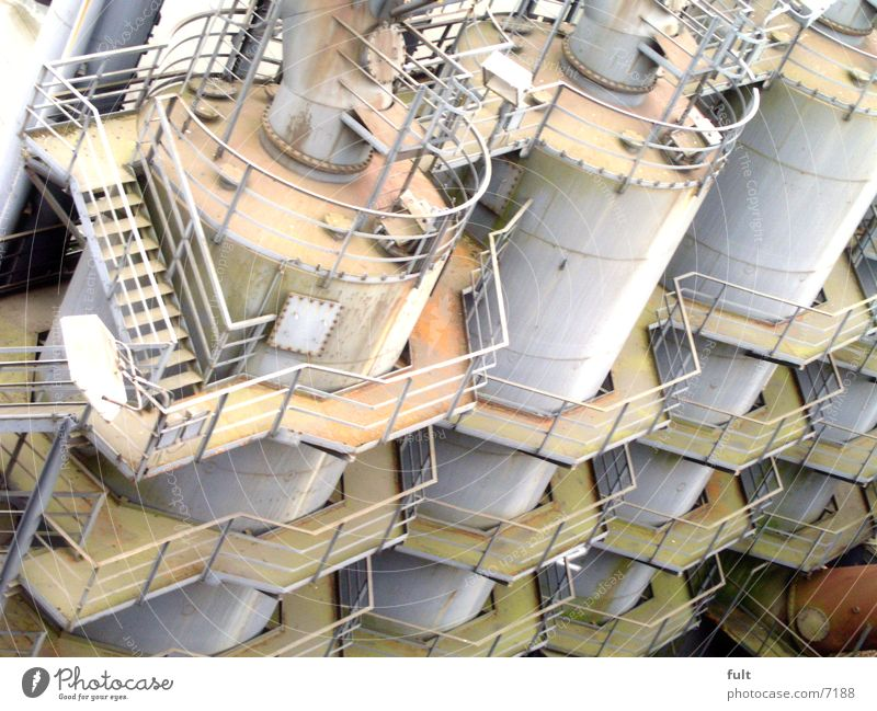 3 Industry Stairs Steel Handrail Containers and vessels Silo Symbols and metaphors Boiler