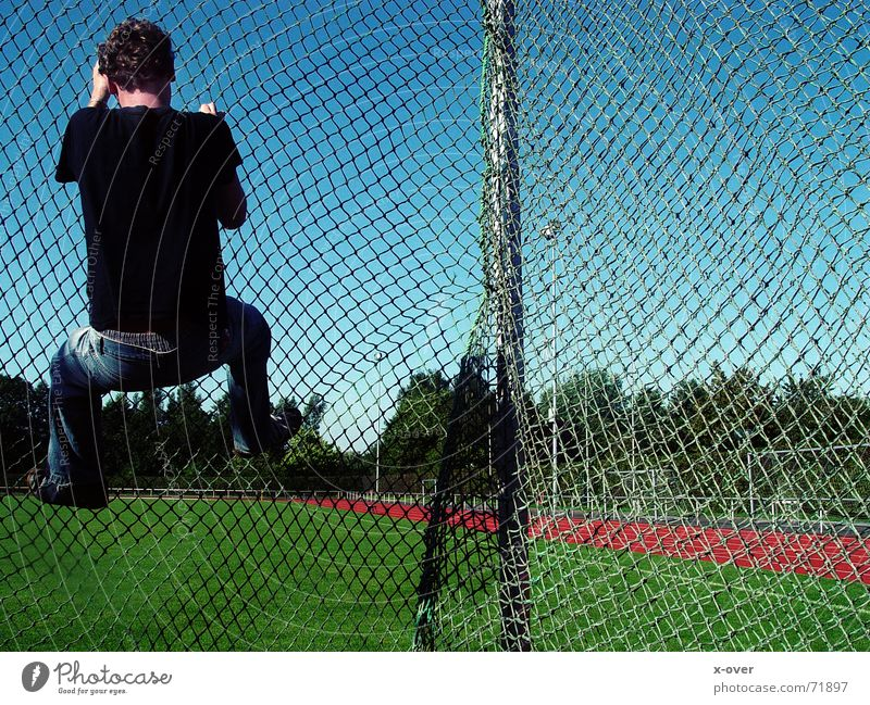 Sports Net Climbing Curl Blue sky Grating Resume Football pitch Sporting grounds