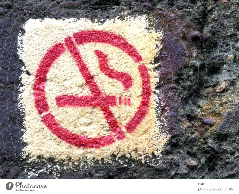 no smoking Red White Concrete Sprayed Icon Things Signage