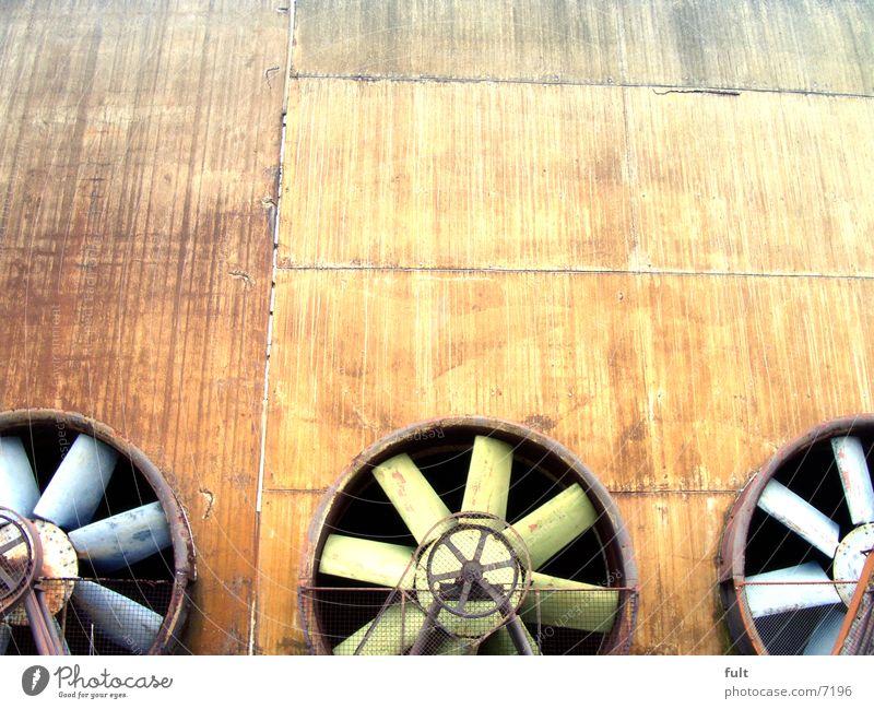 propeller Propeller Ventilation 3 Fan Green Steel Industry Air supply Wheel Blue Metal Rotation