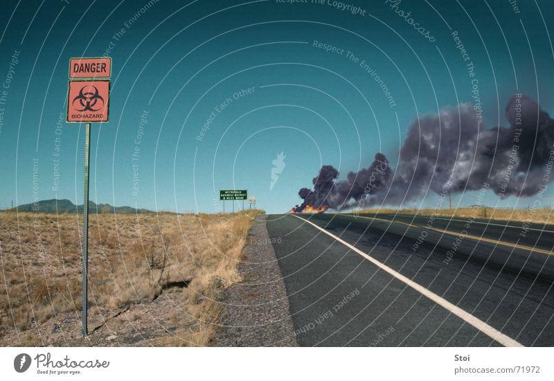 Street Blaze Horizon Dangerous Threat Desert Smoke