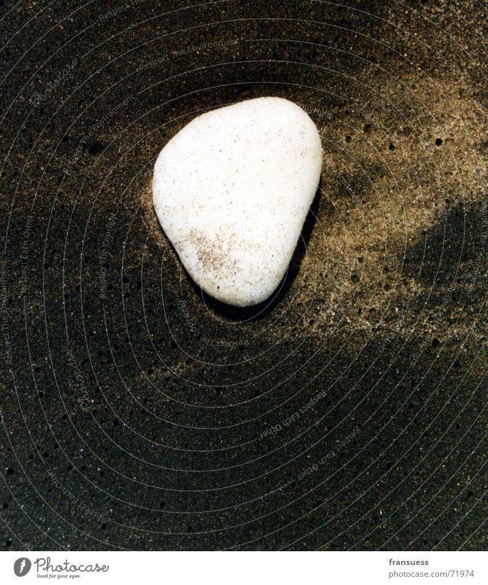 White Ocean Beach Vacation & Travel Black Stone Sand
