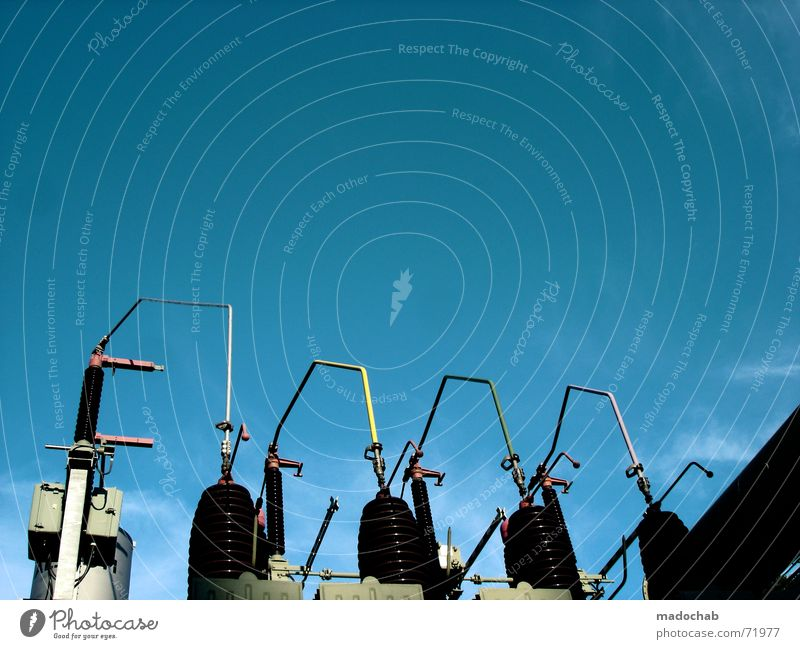 Sky Death Power Walking Industry Energy industry Electricity Might Threat Clarity Passion Dynamics Magnet Beautiful weather Electronic