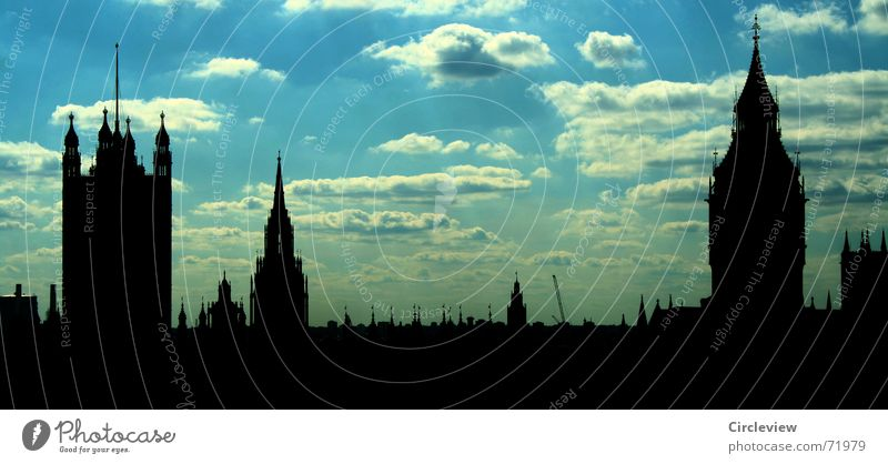 Sky City Blue Vacation & Travel Black Clouds Dark Building Art Weather Europe Tourism Tower Monument Historic London
