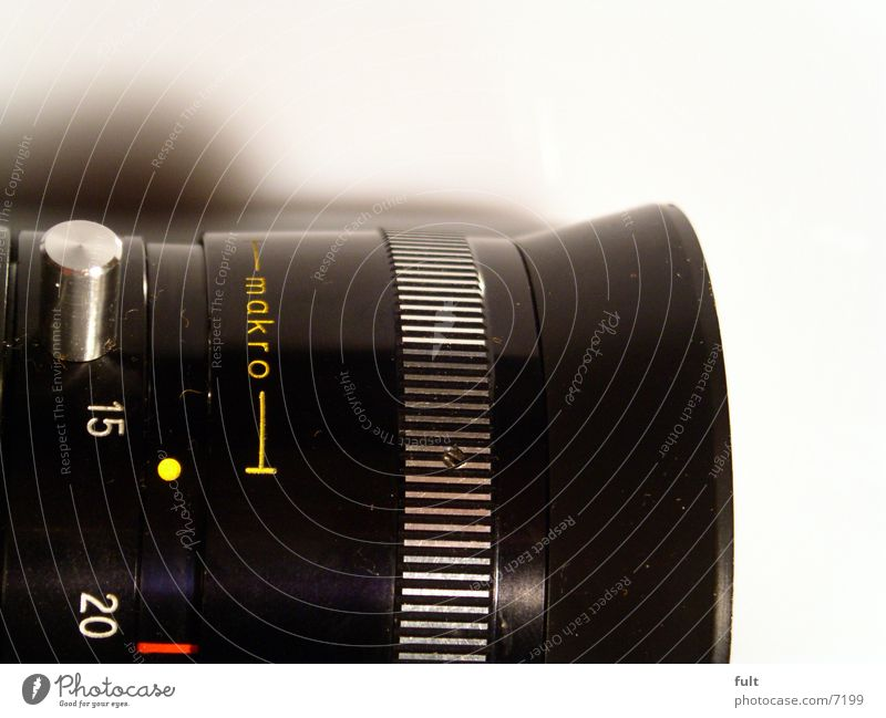 Black Camera Entertainment Lens Objective Macro (Extreme close-up)