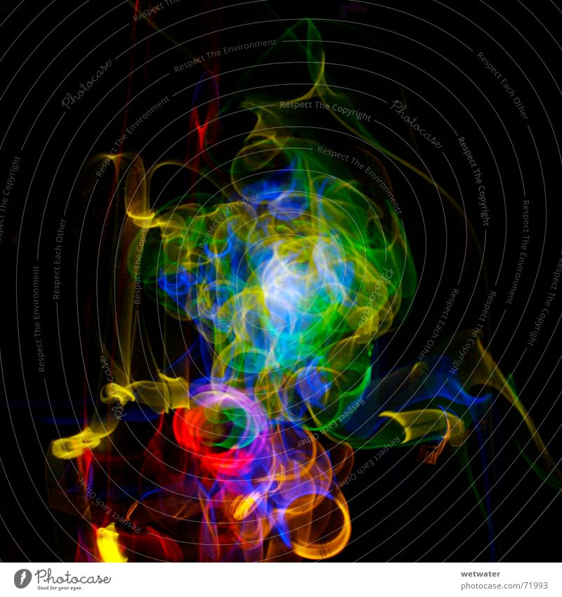 Green Blue Red Black Colour Dark Playing Blaze Trip Circle Tracks Intoxicant Neon light Tails Magic Visual spectacle