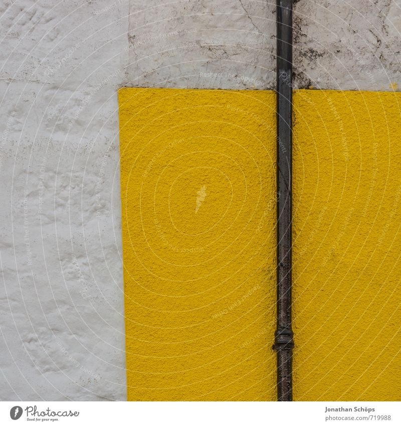 White Colour House (Residential Structure) Yellow Wall (building) Wall (barrier) Bright Background picture Corner Simple Tilt Village Graphic Sharp-edged Direct