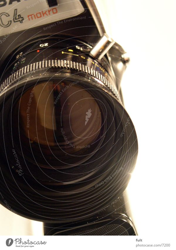 Black Camera Entertainment Lens Objective
