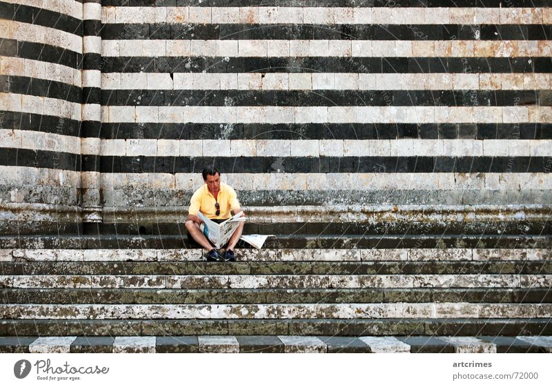 Calm Newspaper Italy Stripe Break Snapshot Cathedral Siesta Orvieto