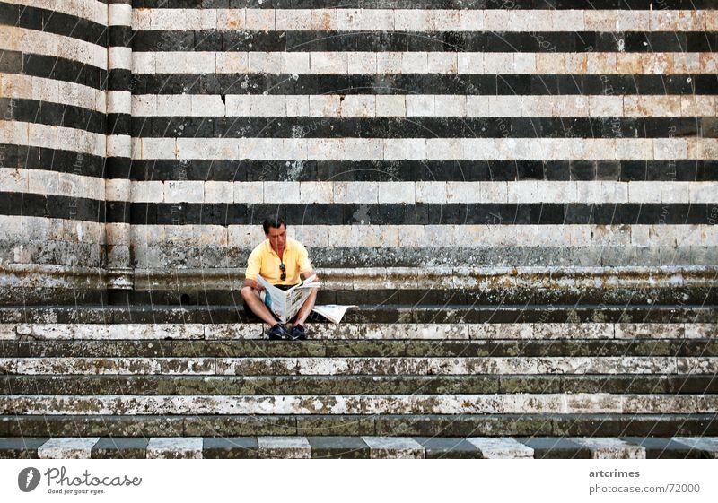 Calm Newspaper Italy Stripe Break Snapshot Cathedral Siesta Orvieto