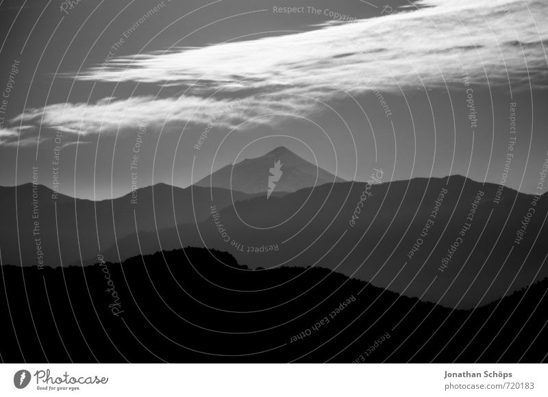 tartan gloom Environment Nature Landscape Rock Mountain Peak Threat Grief Longing Wanderlust Timidity Respect Hilltop Mountain range Scotland Great Britain