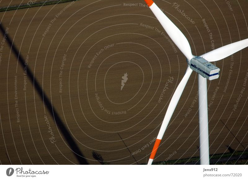 Erfurt Wind Farm Aerial photograph Arable land Field Footpath Agriculture Wind energy plant wind blades Wing Electricity pylon Rotor Line