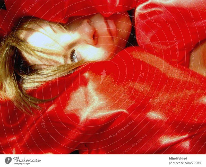 Red Sun Eyes Irritation Untidy Wake up Arise Oversleep