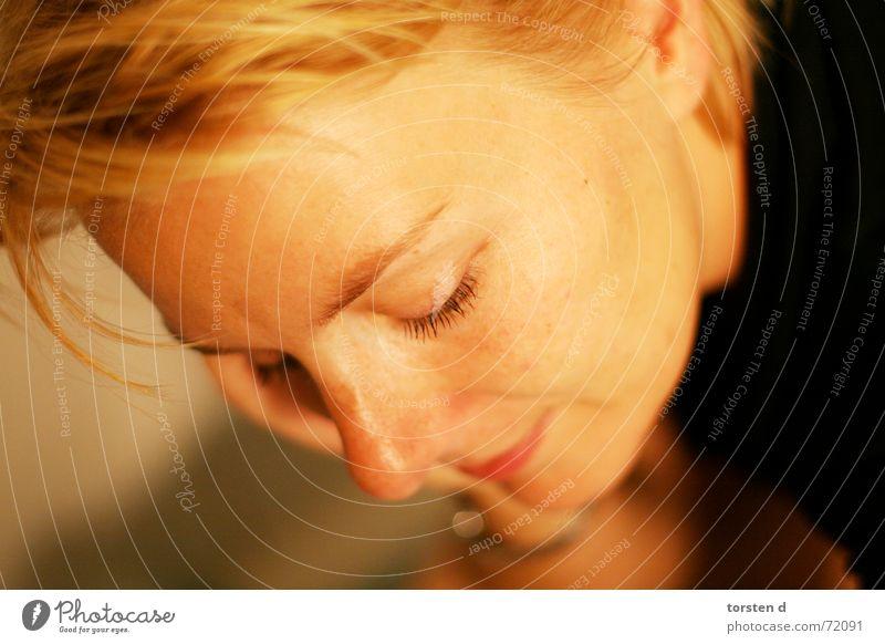 late at night Portrait photograph Woman Blonde Sensitive Grief Fatigue open aperture